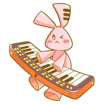 Usagi and keyboard