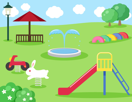 Scenery of a park with playground equipment