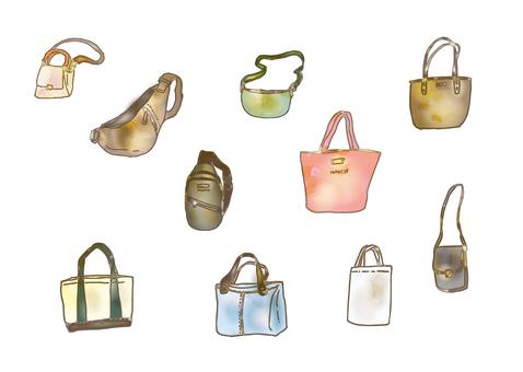 Watercolor style bag various