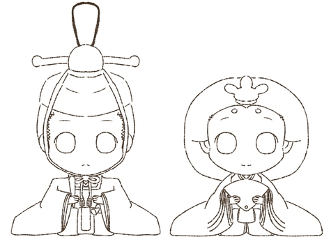 Coloring the inside and the back of the doll