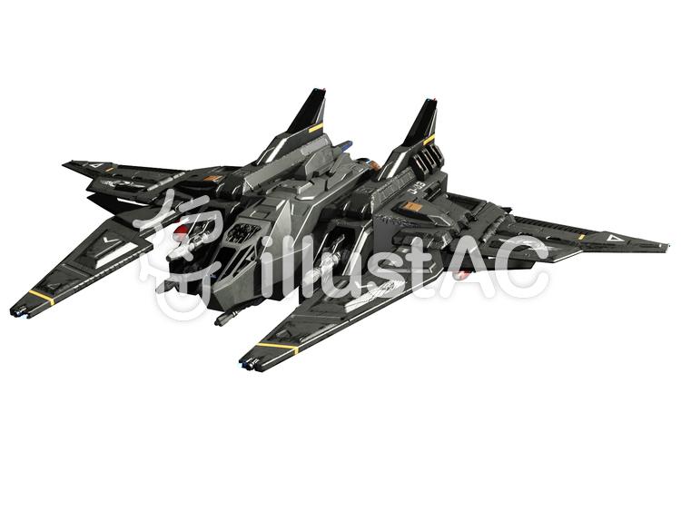 SF小型戦闘機のイラスト