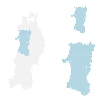 Dot map Akita 2