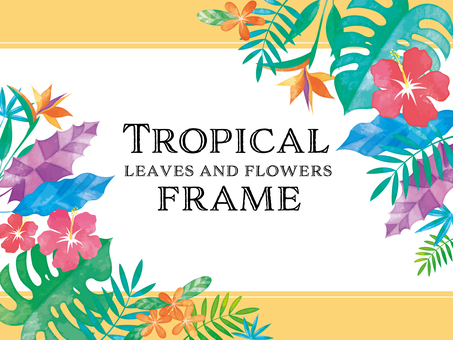 Tropical frame .2 (handwriting style