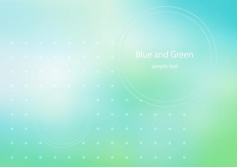藍色和綠色
