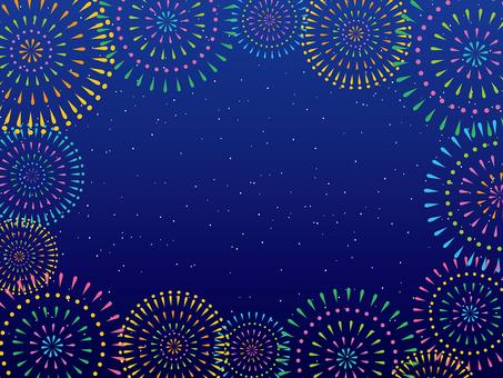 Fireworks and stars frame