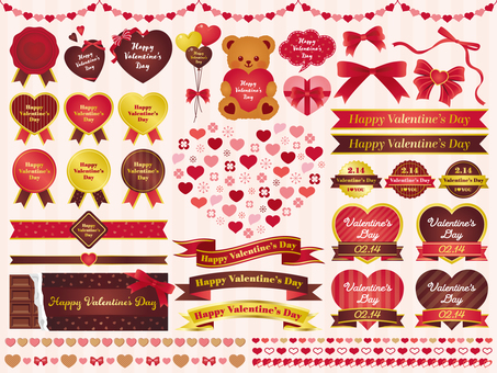 バレンタイン飾りセット