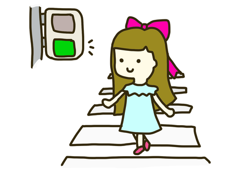 Girl crossing