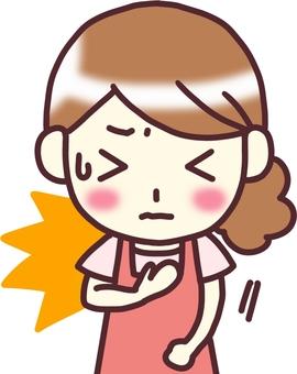 【Female apron】 Below _ chest pain