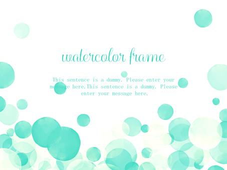 Watercolor watercolor frame 03 / green