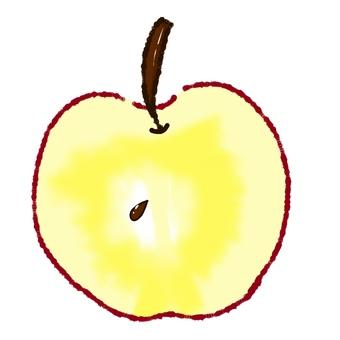 Apples cut in half