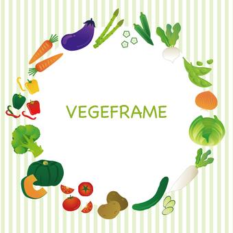 野菜の円形フレーム
