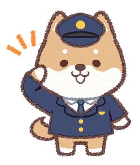 Policeman dog