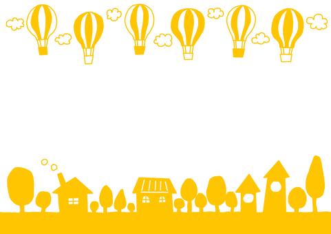 Town where balloon flies Yellow yellow