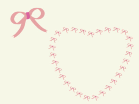Heart in ribbon and heart