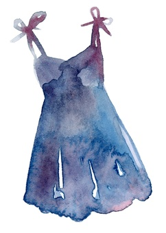 One-piece dress women's clothing watercolor