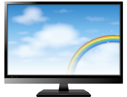 TV (screen blue sky and rainbow)
