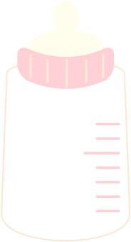 婴儿奶瓶粉红色