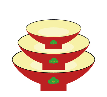 Three sections cup