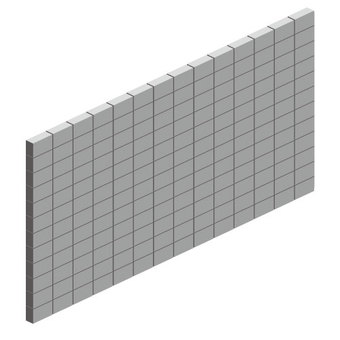 Block fence (no wire)