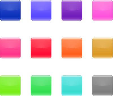 Padlock _ square button icon