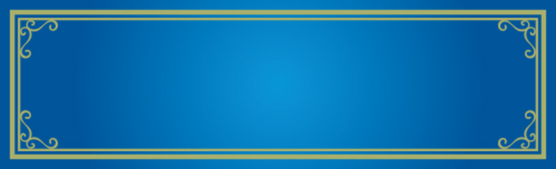 Decoration frame blue