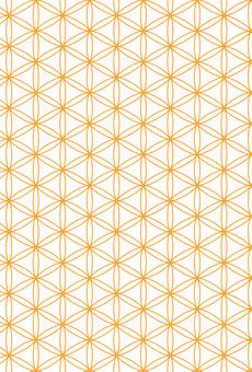 Orange Japanese Pattern