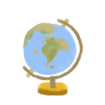 Sticking picture-cut globe