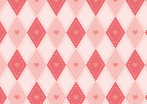하트 스퀘어 ● 핑크