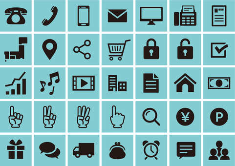 Icon set that can be used on web and flyers