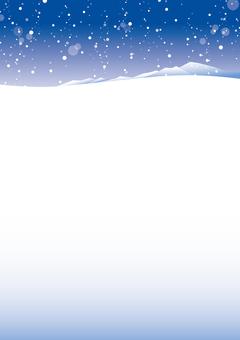 Snowy landscape 3 Winter frame