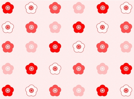 Plum pattern light pink background