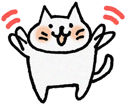 A cat shaking hands