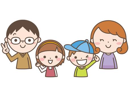 가족 4 미소