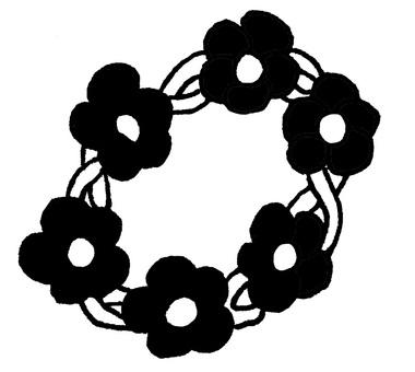 Wreath monochrome