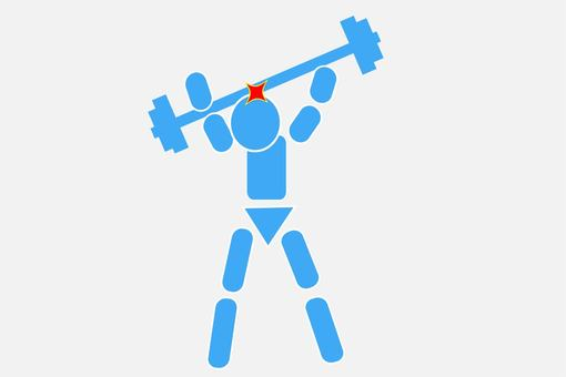 Pictogram dropping the barbell