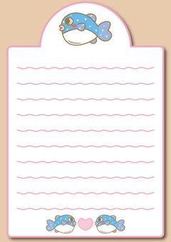 "Blowfish Notepaper 02 ""with envelope"""