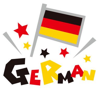 GERMAN ☆ Germany ☆ National flag pop logo