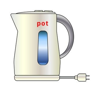 Electric kettle (white)