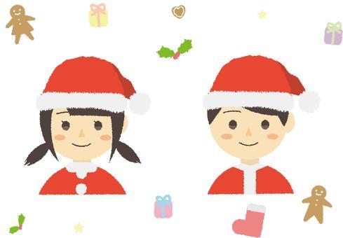 Hand drawn style Christmas set