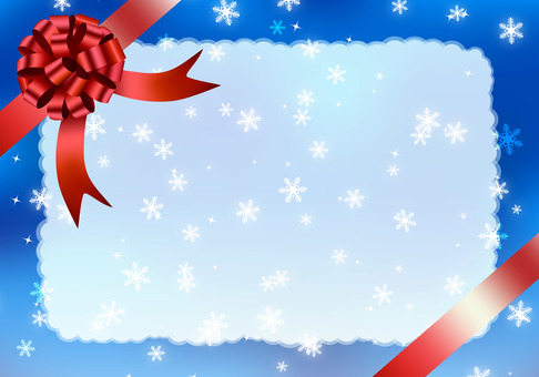 Winter gift frame