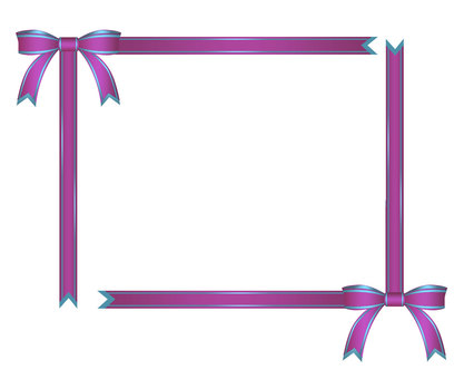 Ribbon decorative frame purple