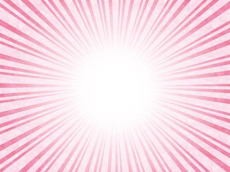 背景集中線ラインフレーム飾り枠薄ピンク色