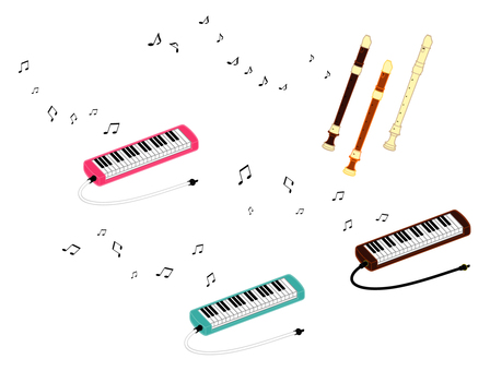 Two instruments (keyboard harmonica / recorder)
