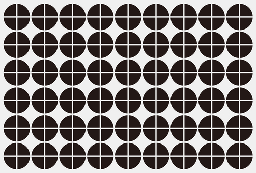 Pattern material Round monotone