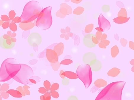 Cherry blossoms (background pink)