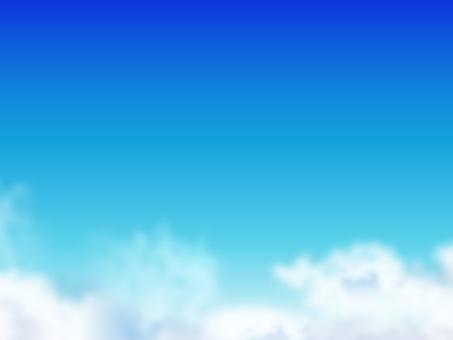 구름과 푸른 하늘 03