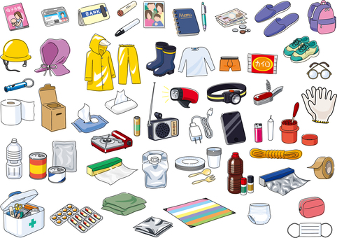 Disaster prevention supplies Disaster prevention goods set