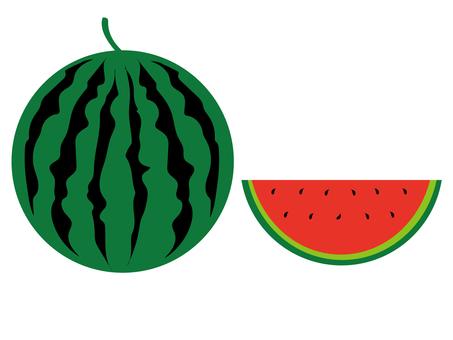 Colorful watermelon