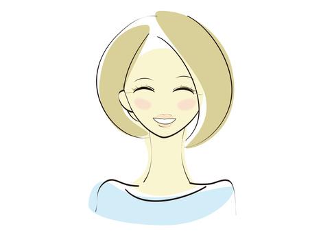 웃는 여자