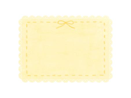 레이스 프레임 (노란색)